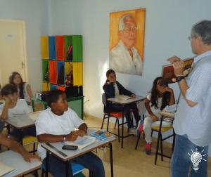 Turma A e o escritor Marcio Marinho Nogueira