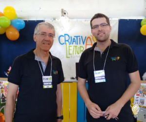 Marcio Marinho Nogueira e o outro sócio-diretor da editora, Marcelo Wutke Nogueira