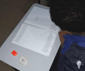 Matheus ilustrando seu próprio texto
