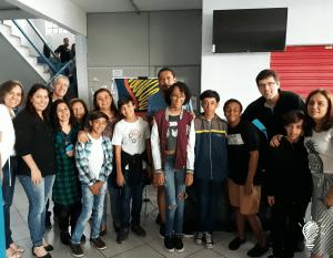 Criativa Leitura; direção, corpo pedagógico e professoras do Colégio Delce Horta; alunos(as) do projeto e pais