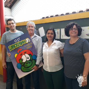 Equipe da Criativa Leitura com a equipe da Horas Alegres Creche Escola