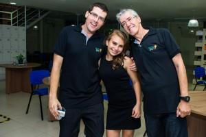 Marcelo, Pamela e Marcio
